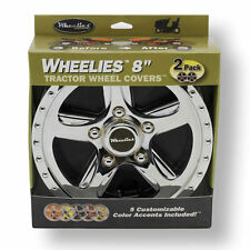 "2 New Wheelies Lawn Mower Garden Tractor Wheel Covers Hub Caps for 8"" Wheels 188"