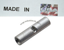 8 GAUGE BUTT CONNECTOR (10) CRIMP TERMINAL AWG BATTERY SEAMLESS TIN PLATED USA