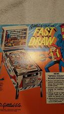 GOTTLIEB FAST DRAW. PINBALL MACHINE SALES FLYER BROCHURE. BALLY. WILLIAMS