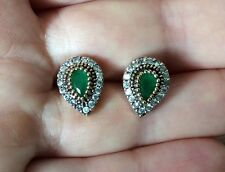 High Quality 925 sterling Silver Turkish Emerald Earrings