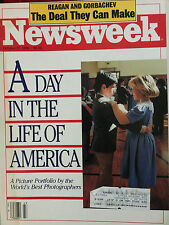 """NEWSWEEK MAGAZINE OCTOBER 27, 1986 """" A DAY IN THE LIFE OF AMERICA"""""""