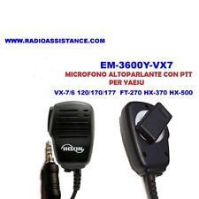 EM-3600Y-VX7 MICROFONO ALTOPARLANTE CON PTT PER YAESU VX-7/6/120/170/177, FT270