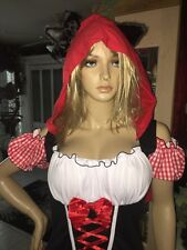 Little Red Riding Hood XL New Costume Sexy Wolf Ears Halloween Costume Womens