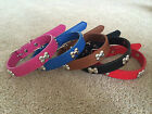 Dog puppy Collar New PU leather Small Medium Large Pet Bone Studded