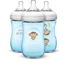 new Avent Natural 9oz Feeding bottles new blue monkey paylessph