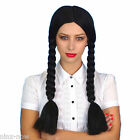 Wednesday Addams Pocahontas Long Black Braids Wig Costume Accessory UNISEX