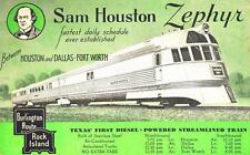 Print. 1930s. Texas. Sam Houston Zephyr Train