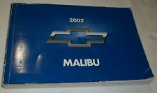 2002 CHEVROLET MALIBU OWNER'S MANUAL. / GOOD USED CONDITION  /  FREE S