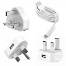 GENUINE APPLE MAINS CHARGER + DATA SYNC USB LIGHTNING CABLE IPHONE 5 5S 5C 6 6s