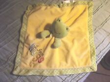 Carters Yellow and green Frog Lovey Security Blanket