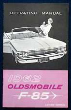 Owner's Manual  * Betriebsanleitung 1962 Oldsmobile F-85   (USA)