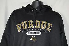 Purdue University Mens XL Black Hoodie Sportswear Boilermakers Sweatshirt
