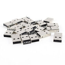 20 Pcs USB Male Type A Port Right Angle 4-Pin DIP Jack Socket Connector