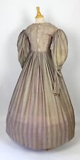 Antique Dress Lovely Light Purple Cotton One Piece Civil War Dress c. 1840