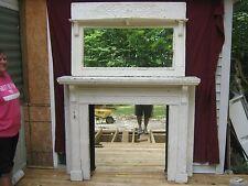Antique  Oak Fireplace Mantel Painted