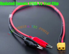 Original Female XT60 To Test Clip Plugs 14AWG 30CM Cable For ISDT SC608 SC620