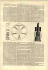 1888 Nottingham Steam Engines Fowler Spring Wheel Hopwood Vertical Boiler