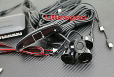 Universal Car Black 4 Parking Sensors LED Display Car Reverse Backup Kit System