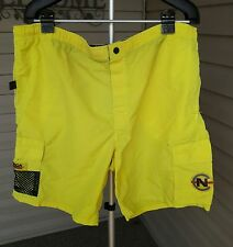 Vintage Nautica Competition Mens Surf Swim Board Shorts Swimwear XL EXTRA LARGE
