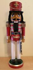 Nutcracker Soldier Red Glitter White with Sword 14'' Christmas Holiday Gold New