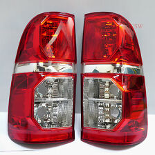 2 x TAIL BACK REAR LIGHTS TOYOTA HILUX 2005 - 2014 VIGO CHAMP 08 09 10 11 PAIR