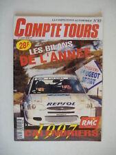 COMPTE TOURS N°85 01/1997 OPEL KADETT GTE Gr F-CITRËN ZX TURBO DIESEL Gr A  D8