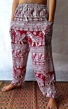 RED 321 Boho Harem Hippie Thai Pants Yoga Baggy Pants Gypsy Trousers Jumpsuit