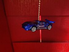Hot Wheels Ford GT 1-64 RARE Blue Handmade Light Fixture or Fan Pull.