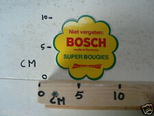 STICKER,DECAL BOSCH SUPER BOUGIES NIET VERGETEN MADE IN GERMANY THERMO-ELASTIC