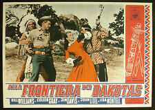 CINEMA-fotobusta ALLA FRONTIERA DEI DAKOTAS williams,gray,davis,montell,NEVFIELD