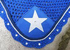 Fly veil oreille net masque bonnet * strass * bleu royal argent & bleu marine star complet