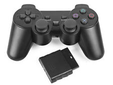 Wireless 2.4GHz Black Vibration Utility Shock Game Controller Sony PS2 Popular