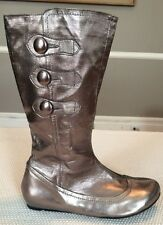 NEW Women's JUMP FOR THE PEOPLE Metallic Leather Boots Size 7m