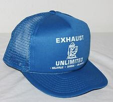 Exhaust Unlimited Car Truck Auto Mechanic Vintage Snapback Mesh Trucker Cap Hat