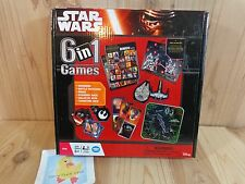Disney STAR WARS 6 in 1 GAMES 2015 Wonder Forge Dominoes Matching Bingo Dice