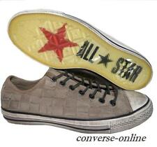 RARE! Men's CONVERSE All Star JOHN VARVATOS Brown WOVEN Trainers Shoes SIZE UK 9