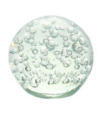 """New 7"""" Hand Blown Glass Art Ball Paperweight Sculpture Bubble Clear"""