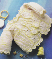 Crochet Pattern ~ BABY GIRLS STRIPES & SQUARES SWEATER ~ Instructions