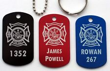 Firefighter Identification ~Metal~ Dog Tag - 9 Colors and Free Engraving