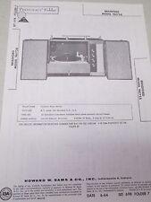 Sams Photofact Folder Radio Parts Manual Bradford 96172A Stereo Record Changer