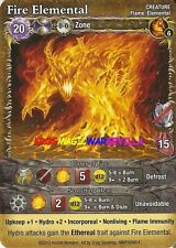 FIRE ELEMENTAL - PROMO SPELL CARD MAGE WARS MALIGNANT INTENTIONS OP KIT 5