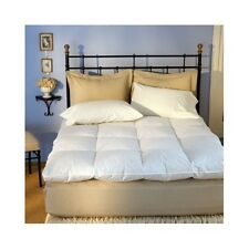 King Feather Bed Mattress Pad Bed Topper Goose Down Pillow Sheet Bedroom Comfort