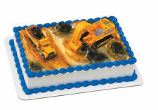 Construction Digger Truck Excavator cake decoration Decoset cake topper set toys