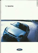 FORD PUMA 1.4 ZETEC SE AND 1.7 ZETEC VCT  SALES BROCHURE FEBRUARY 2000