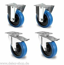 1 Satz Blue Wheels Transportrollen 125mm 200kg / Rolle