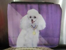 """POODLE WHITE  ~  """" BEST IN SHOW """"   COIN PURSE"""