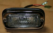 VW Split Bay Bus back up light chrome w/ clear glass lens, seals '67 -'71 set (2