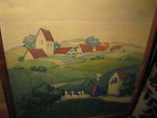 MEZGER Hans, *1879 Gänseliesl vor Dorf