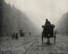 1906/66 PORTLAND PLACE London HORSE & BUGGY Carriage Photo ALVIN LANGDON COBURN
