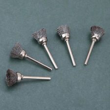 5PCS ROTARY TOOL STEEL WIRE CUP BRUSHES SHANK FOR CLEANING FINISHING TOOL